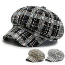 鴨舌帽 20新款小香風女八角帽秋冬格子鴨舌帽英倫貝雷帽時尚日系帽子潮酷