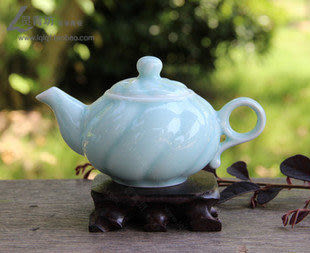 汝窯茶具陶瓷  功夫茶杯 玻璃耐高 溫茶藝