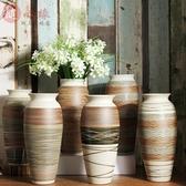 景德鎮新中式簡約現代陶瓷客廳花瓶插花手工陶器酒柜裝飾擺件飾品  熊熊物語