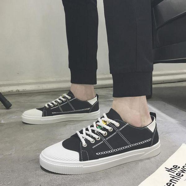 帆布鞋休閒鞋男夏季男士透氣帆布鞋