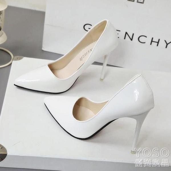 超細職場長十白色新款職業20高跟鞋5cm恨天高女學生偽娘復古34。 優尚良品