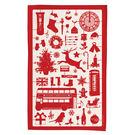 英國蛋 純棉碗盤擦布 模型耶誕節 (紅色)