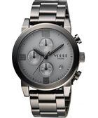 VOGUE 嶄新系列品味計時腕錶-鐵灰/42mm 2V1407-251GR-GR