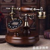 電話機 高檔仿古電話機歐式復古家用座機純實木老式電話新款無線電話 igo 微微家飾