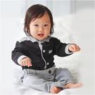 長袖連身衣 紳士造型 假兩件 男寶寶 爬服 哈衣 小紳士 小花童 Augelute Baby 70111