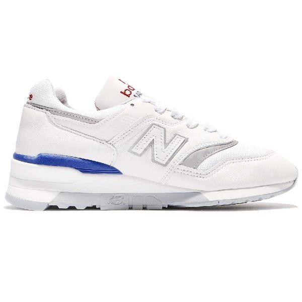 New Balance 復古慢跑鞋 997 NB 白 藍 皮革鞋面 反光設計 美國製 運動鞋 男鞋【PUMP306】 M997CHPD