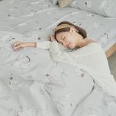 [小日常寢居]#U128#舒柔超細纖維3.5x6.2尺單人床包+枕套+雙人舖棉兩用被三件組-台灣製(限2組超取)