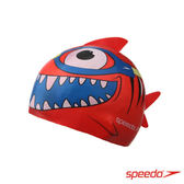 ║speedo║幼童矽膠泳帽Sea Squad鯊魚紅