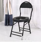 加厚坐便椅孕婦病人移動馬桶殘疾人坐便器老人坐便凳可折疊座便器YYS      易家樂