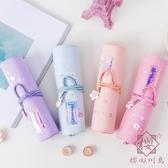 筆袋簡約大容量文具盒鉛筆盒女孩可愛筆袋【櫻田川島】