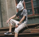 夏季薄款中國風半袖亞麻V領短袖T恤衫潮流男士寬鬆大碼棉麻上衣服