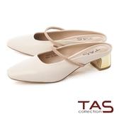 TAS水鑽細帶低跟方頭穆勒鞋-人氣米
