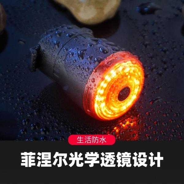 自行車燈尾燈智能感應剎車燈USB充電夜騎高亮山地公路車騎行裝備