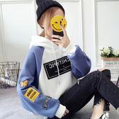 2018秋冬季新款上衣寬鬆長袖連帽韓版衛衣女裝學生加絨加厚外套潮  韓風物語