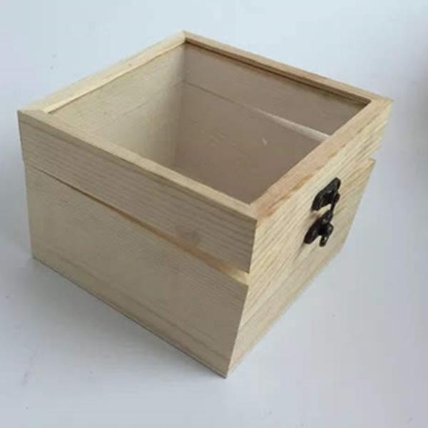 永生花DIY材料手工專用木盒,圓形絨布盒永生花DIY花盒玻璃罩,尺寸12*12*9.5公分