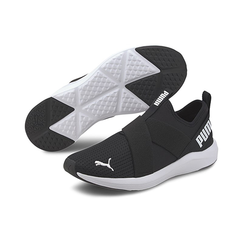 PUMA PROWL SLIP ON WNS 女款黑白色運動慢跑鞋-NO.19307801