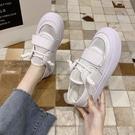 丑小白鞋女夏季復古網面透氣時尚ulzzang大頭娃娃潮鞋 洛小仙女鞋