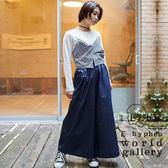 ❖ Spring ❖ 【SET ITEM】層次拼布上衣+腰際鬆緊棉質寬褲裙 - E hyphen world gallery