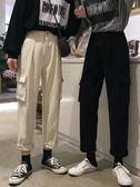 褲子-網紅牛仔褲女直筒春裝正韓寬鬆bf百搭高腰闊腿工裝褲【閒居閣】