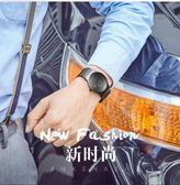 新款超薄手錶男時尚運動休閒男錶防水夜光皮帶腕錶石英錶 韓慕精品