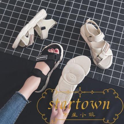 涼鞋女夏季韓版百搭平底運動鞋小熊鞋【繁星小鎮】