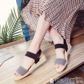 女涼鞋 涼鞋女露趾平底鞋學生簡約舒適沙灘鞋防滑百搭女鞋子gp 寶貝計畫