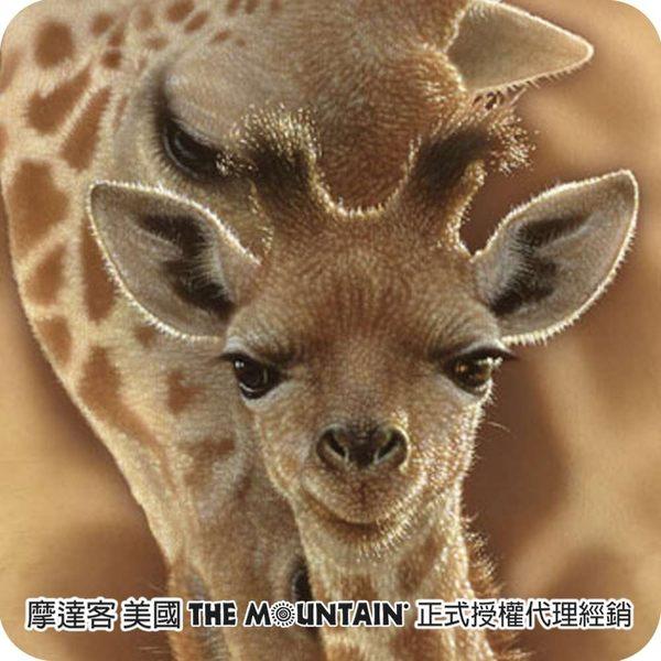 【摩達客】(預購)(男童/女童裝)美國進口The Mountain  長頸鹿之愛 純棉環保短袖T恤(10416045037a)
