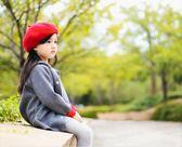 女童帽子   寶寶帽子女兒童畫家貝雷帽羊毛蓓蕾帽女童復古英倫  綠光森林