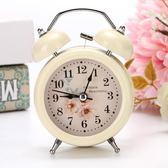 創意小鬧鐘學生床頭靜音簡約兒童卡通迷你鬧錶台鐘超大聲金屬鬧鈴