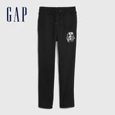 Gap男童 簡約風格純色鬆緊休閒褲 594799-黑色
