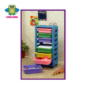 親親 單排組合櫃 (附輪子) 藍色