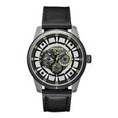 POLICE 潮流光速多功能腕錶-綠色X黑色-15410JSTB-04
