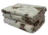 【貝淇小舖】  保暖商品~100%珍珠絨《米熊》刷毛搖粒雙人床包3件組