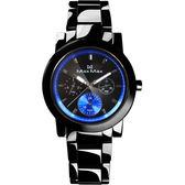 Max Max     驚艷三眼時尚腕錶-黑x藍