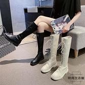 長靴女冬高筒騎士靴不過膝顯瘦長筒靴小個子【時尚大衣櫥】
