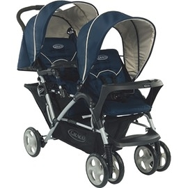 Graco Stadium Duo 雙人前後座嬰幼兒手推車 城市雙人行(天海藍)