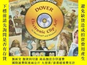 二手書博民逛書店Old-time罕見Trade Cards Cd-rom And Book (full-color Electro