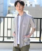 出清 絲瓜領 短袖上衣 工裝 男襯衫 SMITH聯名 日本品牌【coen】