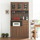 餐廚櫃 廚房架 上下櫃【N0058】夏佐雙層收納廚房櫃180cm(胡桃) 完美主義 ac