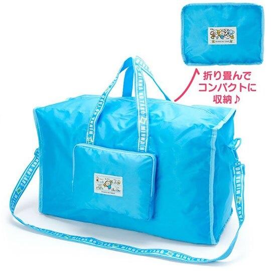〔小禮堂〕大寶 折疊尼龍拉桿行李袋《藍》旅行袋.側背袋.朝氣運動系列 4550337-29333