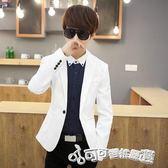 西裝外套 春夏季發型師上衣工作服韓版修身男版小西裝休閒西服外套 Cocoa
