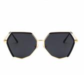 太陽眼鏡2020新款新款網紅墨鏡韓版潮 復古風偏光太陽鏡女圓臉個性多邊形  後街五號