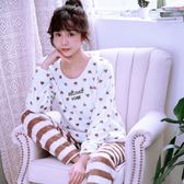 家居服套裝 大碼珊瑚絨睡衣女秋冬季長袖加厚韓版可愛法蘭絨可外穿 js14668『miss洛羽』