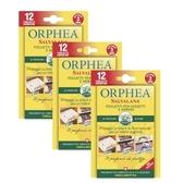 義大利原裝ORPHEA歐菲雅經典花香衣物保護掛片3入組(36片)