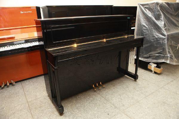 【HLIN漢麟樂器】-日本原裝kawai河合123號直立式中古二手鋼琴-原木-亮黑-豪華40