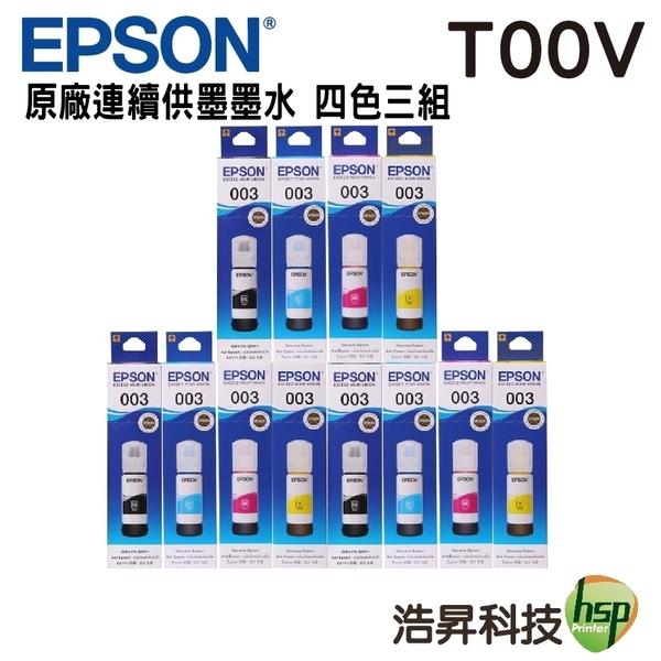 EPSON T00V 四色三組 原廠填充墨水 盒裝 適用L1110 L3110 L3116 L3150 L5190 L5196