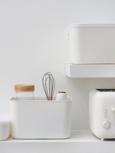 雜物收納盒桌面塑料化妝品置物盒儲物盒衛生間浴室收納筐整理盒子