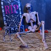 萬圣節裝飾品恐怖掛件仿真人體骨骼模型骷髏骨架酒吧鬼屋道具擺件igo 盯目家