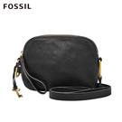 Fossil ELLE 黑色簡約真皮斜背包 ZB7719001