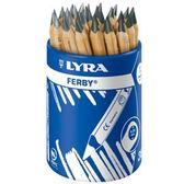 【德國LYRA】兒童三角原木鉛筆(12cm) 36入 ★加贈Giotto筆筒   產地:德國*預購,月底到*